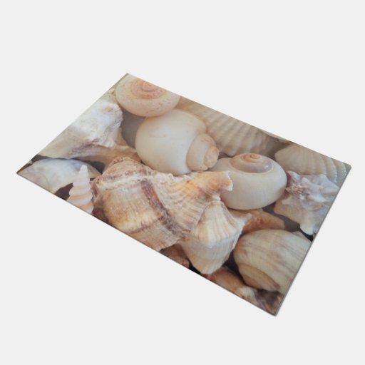 Sunny Summer Exotic Tropical Romantic Sea Shells Doormat