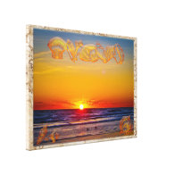 Sunrise on a Beautiful Winters Day in Daytona Bch Canvas Prints