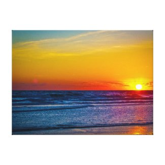 Sunrise Over Atlantic Ocean Water Reflection III Gallery Wrapped Canvas