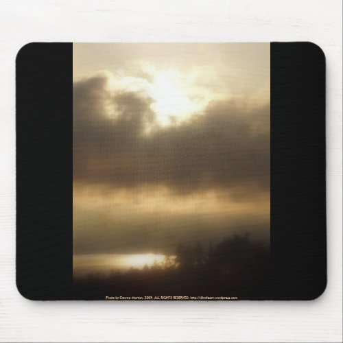 Sunrise over the Columbia River #1 mousepad