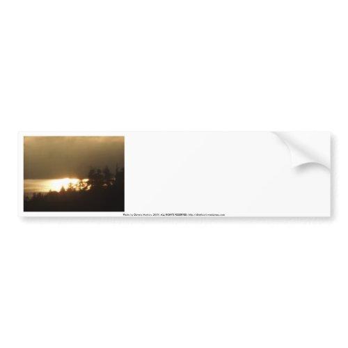 Sunrise Over the Columbia River #4 bumpersticker