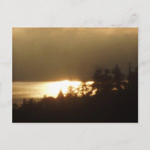 Sunrise Over the Columbia River #4 postcard