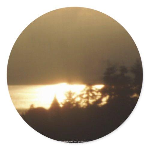Sunrise Over the Columbia River #4 sticker