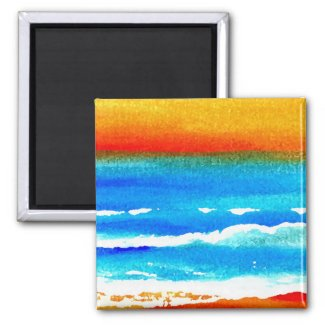 """Sunset Beach"" CricketDiane Ocean Art"