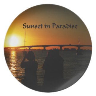 Sunset in Paradise Plates