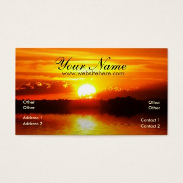 Sunset Reflections Business Card