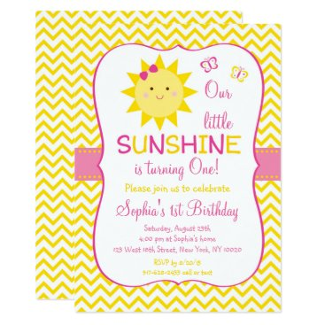 Sunshine 1st Birthday Invitation