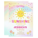 Sunshine Birthday Invitation Little Sunshine Party