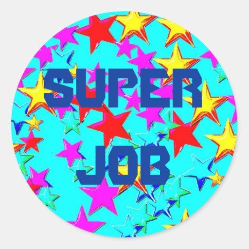 super job star sticker zazzle