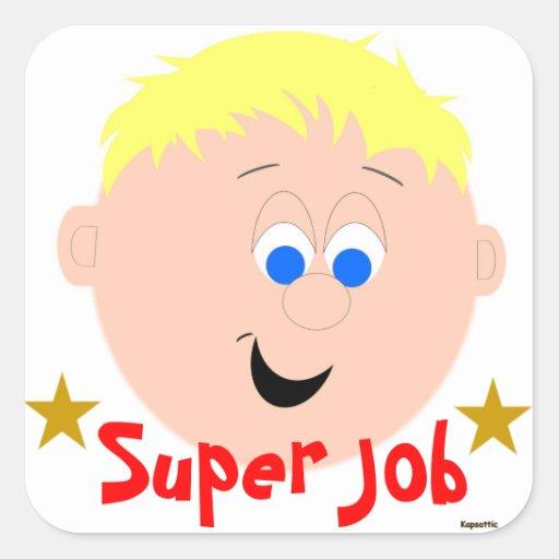 super job sticker zazzle