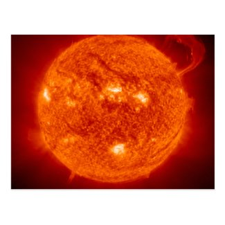 Super Prominence - Sun in Space Postcard