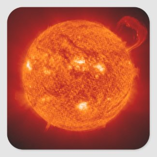 Super Prominence - Sun in Space Stickers