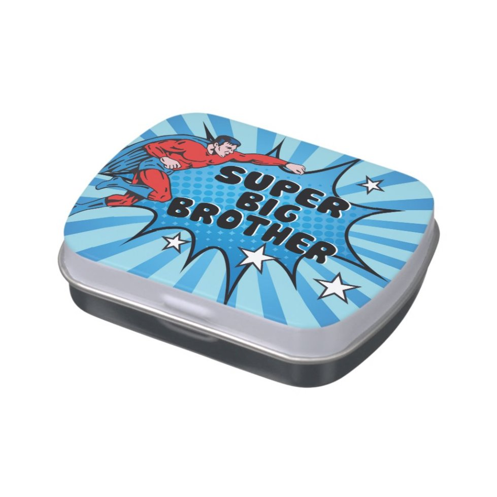Superhero Becoming a Big Brother Jelly Belly Candy Tin