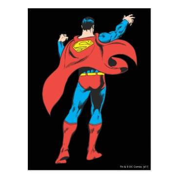 Superman From Behind Postcard
