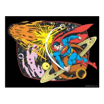 Superman in Space Postcard