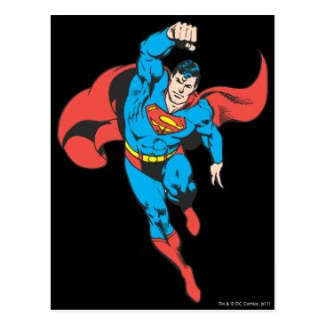 Superman Left Fist Raised Postcard
