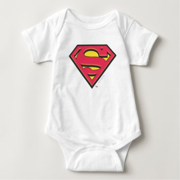 Superman S-Shield   Classic Logo Baby Bodysuit