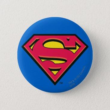 Superman S-Shield   Classic Logo Pinback Button