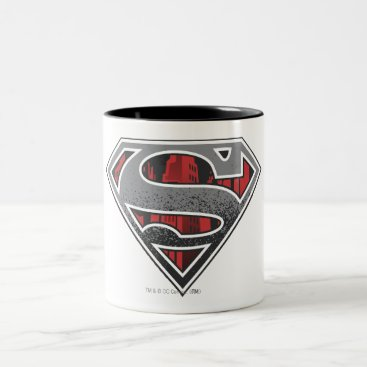 Superman S-Shield | Grey and Red City Logo Two-Tone Coffee Mug