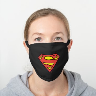 Superman S-Shield | Superman Logo Black Cotton Face Mask