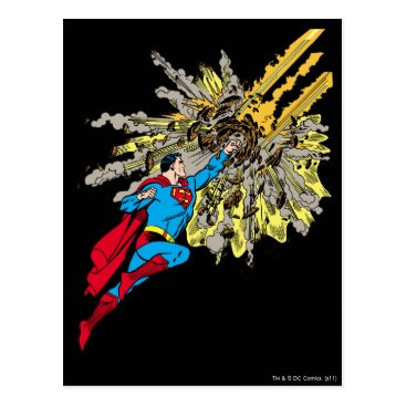 Superman Stops a meteor Postcard