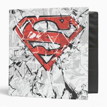 Superman Stylized | Crumpled Comic Logo Binder