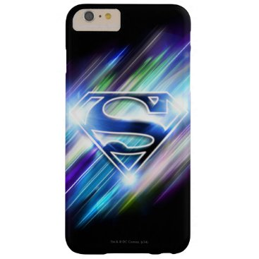 Superman Stylized | Shiny Blue Burst Logo Barely There iPhone 6 Plus Case