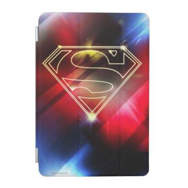 Superman Stylized   Shiny Yellow Outline Logo iPad Mini Cover