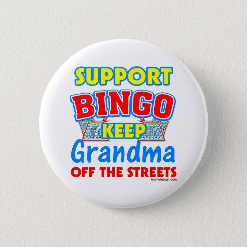Support Bingo Grandma Button