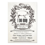 Pretty Vintage Pig Themed I Do BBQ Invitation