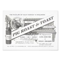 Supreme Vintage Pig Roast & Toast Invitations