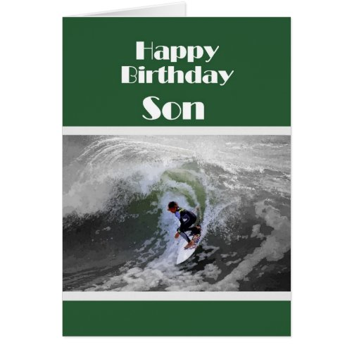 Surfer Happy Birthday Son Card