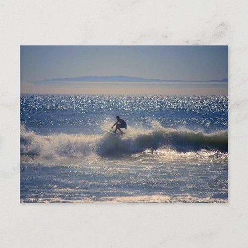 Surfer in Huntington Beach, California Postcard zazzle_postcard