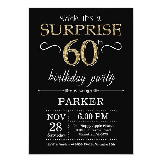 Birthday Invitations 60th Surprise
