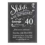 Surprise birthday invitation Chalkboard Rustic