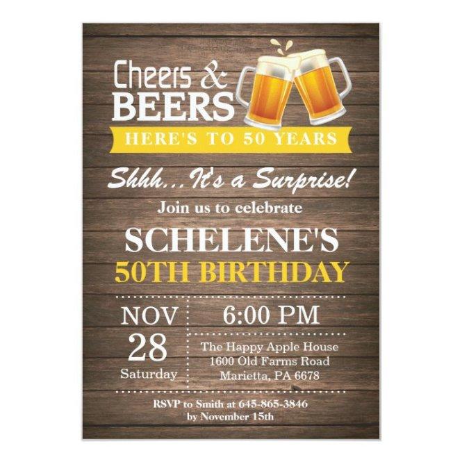 Beers 50th Birthday Invitation
