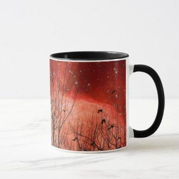 Surreal Red Starry Night Mug