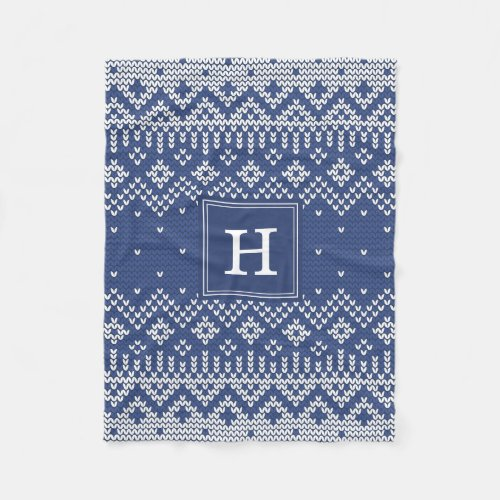 Sweater Weather | Monogram Holiday Fleece Blanket