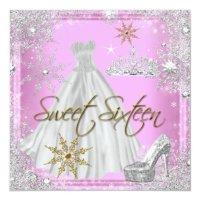 Sweet 16 Sweet Sixteen Pink White Gold Elite Card | Zazzle