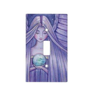 Sweet Angel Holding Earth Fantasy Art Switch Plate Cover