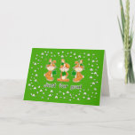 Sweet Bunnies St. Patrick's Day Fun Greeting Cards