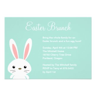 Sweet Bunny Easter Party Invitation