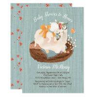 Sweet llama and Momma Baby shower Invitations