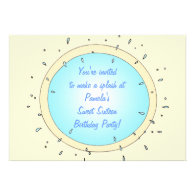 Sweet Sixteen Pool Party Birthday Invitations