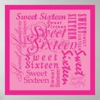 Sweet 16 Birthday Posters, Sweet 16 Birthday Prints, Art ...