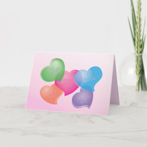 Sweet Talk Hearts Holiday Card