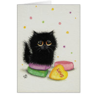 Sweetheart Love Valentines' Day Cat Card