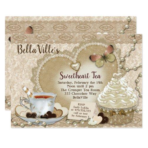 Sweetheart Valentine Tea Party Invitation