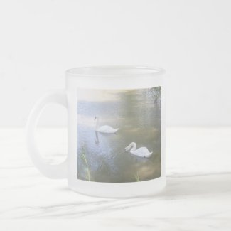 Swimming Swans Mug mug