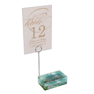 Swimming with Salmon Table Card Holder
